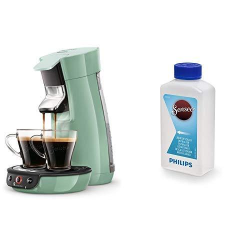 Philips Senseo Viva Cafe HD6563/10 Kaffeepadmaschine (Crema plus, Kaffee-Stärkeeinstellung), grün mit Flüssigentkalker CA6520/00