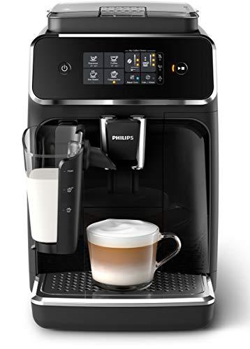 Philips EP2231/40 Serie Kaffeevollautomat, 3 Kaffeespezialitäten, Klavierlack-Schwarz