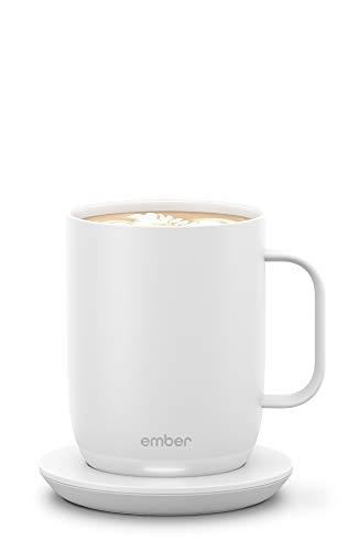 Ember Temperature-Control Smart Mug 2, 414 ml, White, 80 min. Battery Life – App-Controlled Heated Coffee Mug – New & Improved Design
