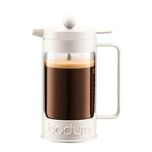 Bodum BEAN Kaffeebereiter für 8 Tassen (Press Filter System, Isoliert, Auslaufschutz, 1,0 liters) cremefarben