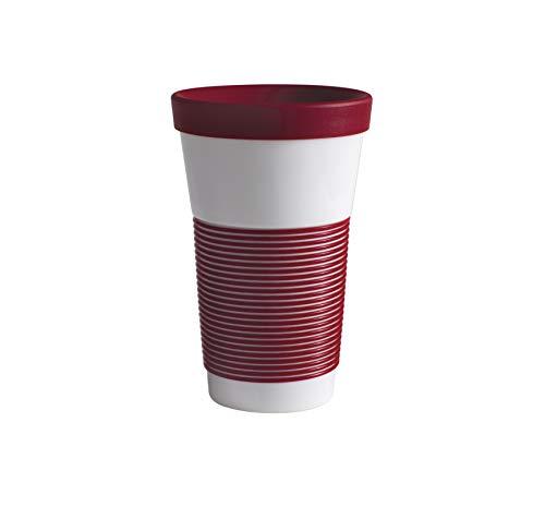 Kahla cupit Magic Grip dark cherry Becher 0,47 l + Trinkdeckel 10x2 cm