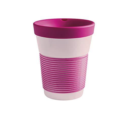 KAHLA cupit To Go Becher 0,35 l mit Trinkdeckel Magic Grip brilliant magenta &