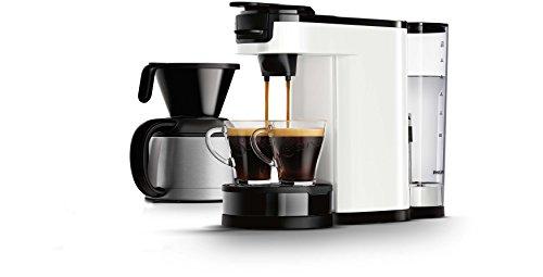Philips HD7892/01Senseo Switch Kaffeevollautomat, 2in 1,Weiß 1l, Kaffeepads und Filterkaffee