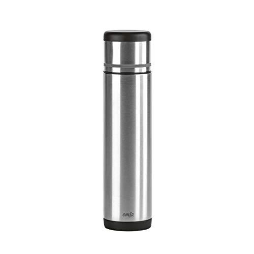 Emsa 509238 Isolierflasche, Mobil genießen, 700 ml, Safe Loc Pro Verschluss, Schwarz-Anthrazit, Mobility