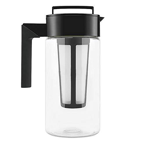 Cold Brew Coffee Maker 1 Liter BPA-frei - Kaffeebereiter aus Tritan + gratis Ersatzfilter - Das Geschenk Für Kaffeeliebhaber + 1 gepflanzter Baum