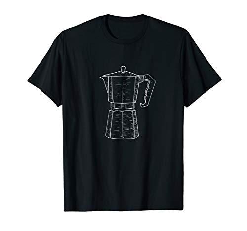 Kaffee Espresso-Maschine lustiges Kaffeetrinker Zubehör T-Shirt