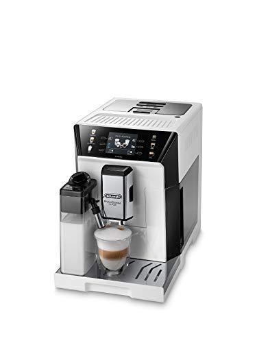 De'Longhi PrimaDonna Class ECAM 550.65.W Kaffeevollautomat mit Milchsystem, Cappuccino und Espresso auf Knopfdruck, 3,5 Zoll TFT Farbdisplay und App-Steuerung, weiß