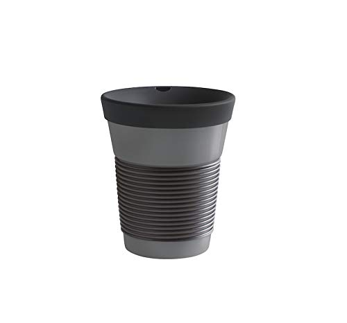 KAHLA cupit To Go Becher 0,35 l mit Trinkdeckel Magic Grip soft black & grey