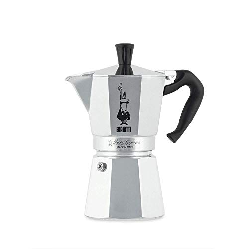 Bialetti Moka Express Espressokocher, Aluminium, Grau, 6 Tassen