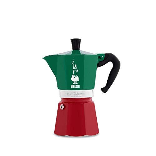 Bialetti 5323 Espressokocher-5323 Espressokocher, Aluminium, Grün,Rot,Weiß