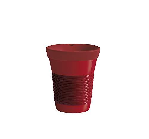 KAHLA cupit To Go Becher 0,35 l mit Trinkdeckel Magic Grip dark cherry & red