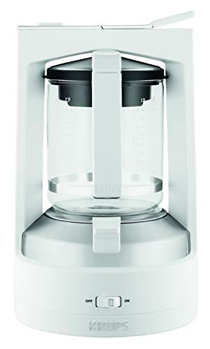 Krups KM4682 Filterkaffeemaschine T8   850 Watt   Automatische Abschaltung   8-12 Tassen   Beleuchteter Ein-/ Ausschalter   Weiß