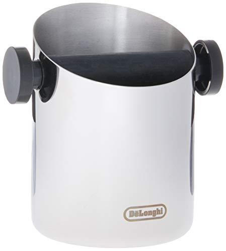 De'Longhi DLSC059 Abschlagbehälter, für Espresso Siebträger, Kaffeesatz Abschlagbox, Kaffeemaschinen Zubehör für den Barista Zuhause, Abklopfbehälter aus Edelstahl