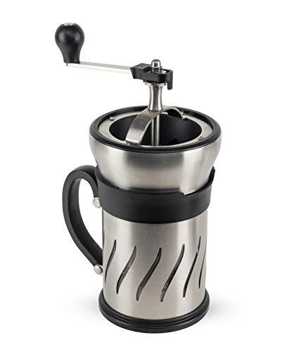 Peugeot Paris Press Kaffeemühle und Kaffeebereiter in einem, Edelstahl, Kunststoff, Glas, 1