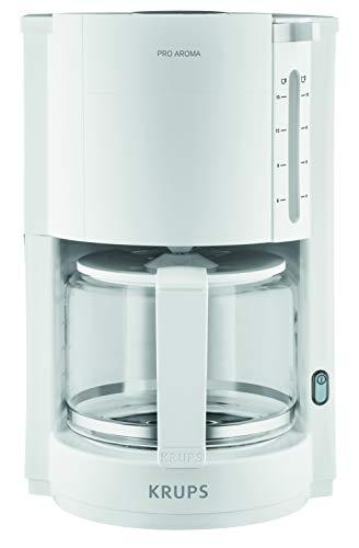 Krups F30901 Filterkaffeemaschine ProAroma   Glaskanne   Warmhaltefunktion   Automatische Abschaltung   10 Tassen   1.050 W   Weiß