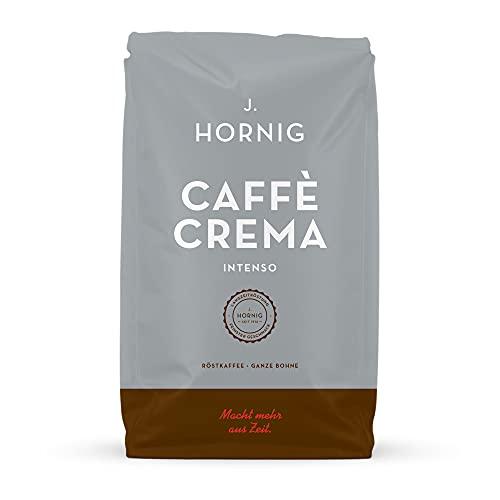 J. Hornig Kaffeebohnen Espresso, Caffè Crema Intenso, 1000g, kräftig-schokoladiges Aroma und dunkle Röstung, für Vollautomaten, Siebträgermaschine oder Espressokocher, ganze Bohnen