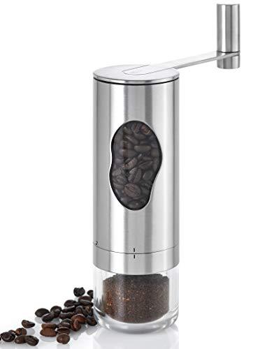 AdHoc MC01 manuelle Kaffeemühle MRS. BEAN, Keramik Mahlwerk (ohne Inhalt), Edelstahl/Acryl/Kunststoff