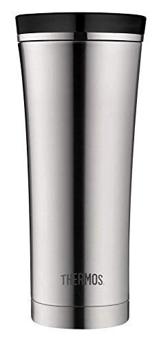 THERMOS 4004.205.047 Coffee-to-Go Thermobecher Premium, Edelstahl mattiert 0,47 l, 5 Stunden heiß, 9 Stunden kalt, BPA-Free