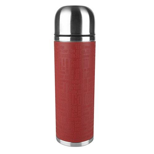 Emsa 515715 Senator Manschette Isolierflasche, Mobil genießen, 1 l, Safe Loc Verschluss, rot
