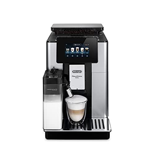 De'Longhi PrimaDonna Soul ECAM 612.55.SB Kaffeevollautomat mit LatteCrema Milchsystem & Bean Adapt Technologie, EXKLUSIV BEI AMAZON, 18 Rezepte per Knopfdruck, mit Farbdisplay & App-Steuerung, silber