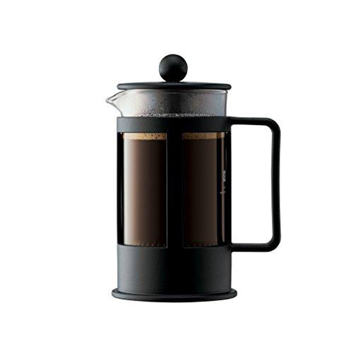 Bodum 1783-01 KENYA Kaffeebereiter (French Press System, Spülmaschinengeeignet, 0,35 liters) schwarz