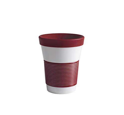 Kahla cupit Magic Grip dark cherry Becher 0,35 l + Trinkdeckel 10x2 cm