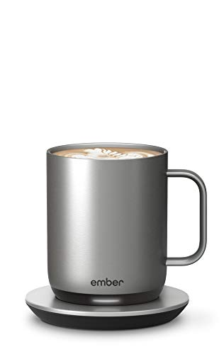 Ember Temperature Control Smart Mug 2, 296 ml, Stainless Steel, 1.5-hr Battery Life - App Controlled Heated Coffee Mug - New & Improved Design
