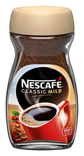NESCAFÉ CLASSIC Mild, löslicher Bohnenkaffee, mit feinen Arabica Kaffeebohnen, kräftiger Instant-Kaffee, für ca. 80 Tassen, 1er Pack (1 x 200g)