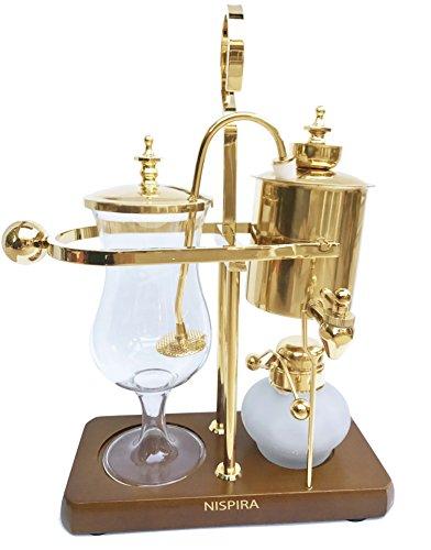 Nispira Belgischer Belgien Luxus Royal Family Balance Siphon Kaffeekocher Gold Farbe