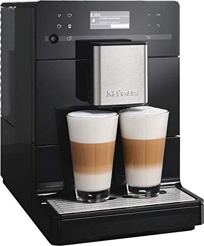 Miele CM 5300 Kaffeevollautomat (OneTouch- und OneTouch for Two-Zubereitung, automatische Spülprogramme, komfortable Reinigungsprogramme, entnehmbare Brüheinheit, Edelstahl-Kegelmahlwerk) schwarz