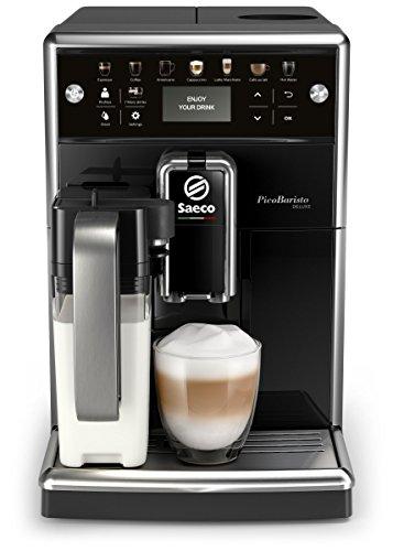 Saeco SM5570/10 PicoBaristo Deluxe Kaffeevollautomat (LED Display, integriertes Milchsystem) schwarz