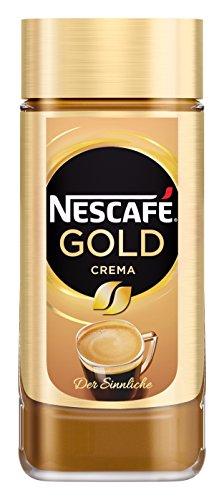 NESCAFÉ GOLD Crema, löslicher Bohnenkaffee aus erlesenen Kaffeebohnen, Instant-Pulver, koffeinhaltig & aromatisch, 1er Pack (1 x 200g)