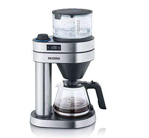 SEVERIN Filterkaffeemaschine 'Caprice', wie von Hand aufgebrüht mit dem Kaffeebereiter für bis zu 8 Tassen, Kaffeemaschine mit Timer, Edelstahl-gebürstet/schwarz-matt, KA 5760