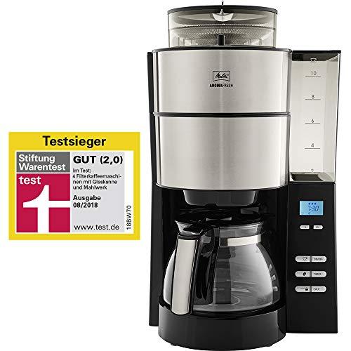 Melitta 1021-01 Filter-Kaffeemaschine, Rostfreier Stahl, schwarz