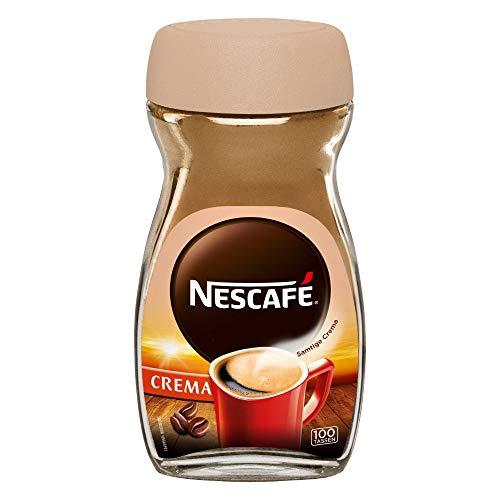 NESCAFÉ Classic Crema, löslicher Bohnenkaffee, mit feinen Kaffeebohnen, cremiger Instant-Kaffee, 1er Pack (1 x 200g)