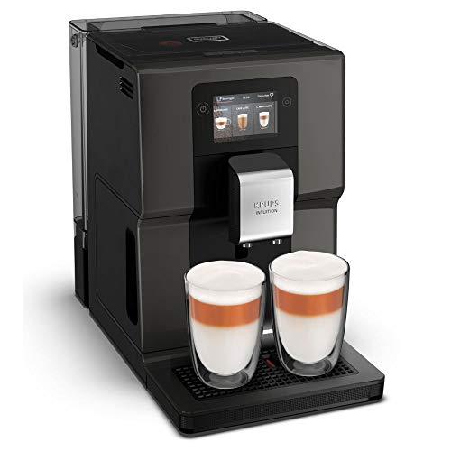 Krups Kaffeevollautomat EA872B Intuition Preference, mit Smartphone-ähnlichem 3,5'-Farb-Touchscreen; Intuitive farbige Lichtanzeigen; 11 personalisierbare Getränke
