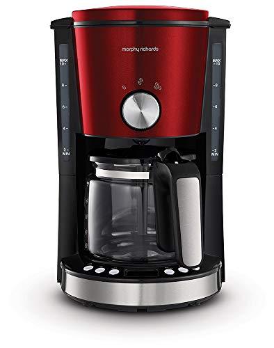 Morphy Richards Evoke 162522 Filter Coffee Machine, Red