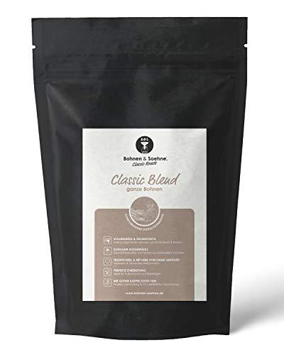 BOHNEN & SOEHNE® Classic Blend - Spezialitätenkaffee mit Vollmundigem Schokoladen- & Beeren-Noten - Ganze Bohnen - Ideal für Vollautomat & Siebträgermaschine (1kg)