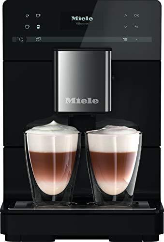 Miele CM 5300 Kaffeevollautomat – Mit OneTouch for Two, aromaschonendem Kegelmahlwerk, Kannenfunktion, Reinigungsprogrammen u. v. m. – Obsidianschwarz