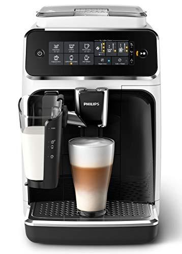 Philips 3200 Serie EP3243/50 Kaffeevollautomat, 5 Kaffeespezialitäten (LatteGo Milchsystem) Weiß/Klavierlack-schwarz