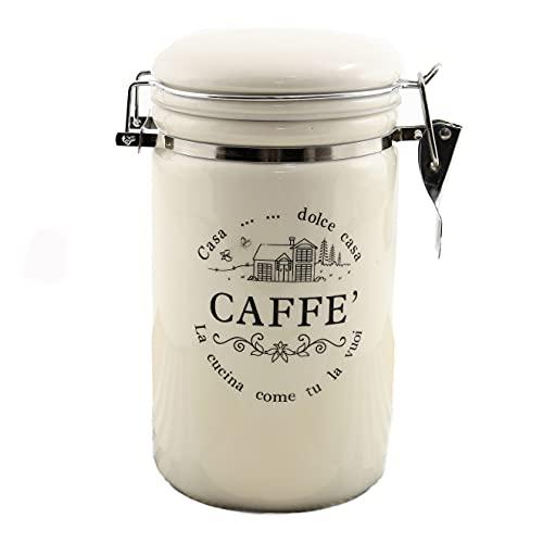 Kaffeedose Dolce Casa, 850 ml., Keramik mit Bügelverschluss, von TOGNANA