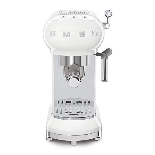SMEG ECF01WHEU Kaffeevollautomat, Das Thermoblock-Heizungssystem Espresso-Kaffeemaschine ermöglicht einen schnellen Start und eine präzise Temperaturkontrolle für das Aufbrühen von Kaffee, Weiß