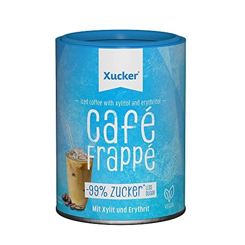 Xucker Cafe Frappe - Eiskaffee ohne Zucker mit Xylit gesüßt I Instant Kaffee Frappe I Löslicher Kaffee I Schnell und einfach zubereitet I Gelingt auch ohne Shaker!
