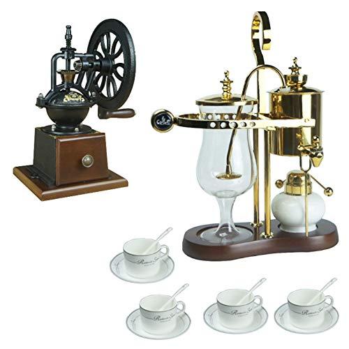 BNMY Siphon Kaffeemaschinen Set Belgisch Belgien Luxus Royal Family Balance Siphon Siphon Kaffeemaschine,B