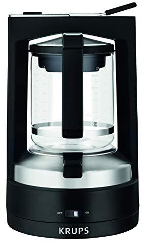 Krups KM4689 Filterkaffeemaschine T8   850 Watt   Automatische Abschaltung   8-12 Tassen   Beleuchteter Ein-/ Ausschalter   Schwarz
