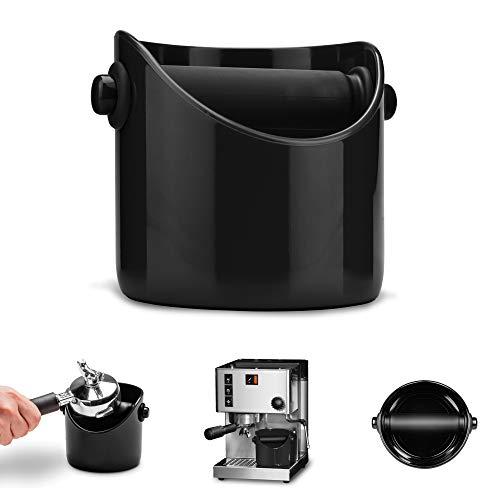Dreamfarm Grindenstein Abklopfbehälter für Kaffeesatz Jet-Black tiefschwarz
