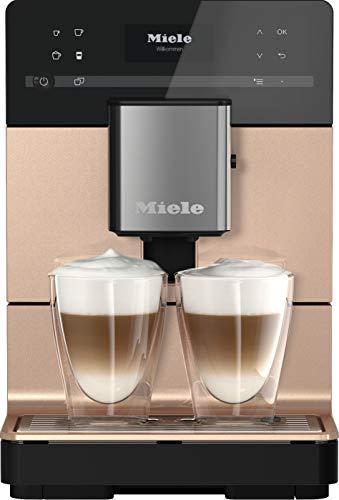 Miele CM 5510 Silence Kaffeevollautomat – Mit OneTouch for Two, AromaticSystem, Kannenfunktion, 2 Genießerprofilen, Reinigungsprogrammen u. v. m. – Roségold PearlFinish