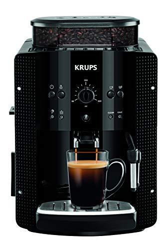 Krups Essential EA8108 Kaffeevollautomat | Espresso und Kaffee | mit CappucinoPlus- Milchdüse | individuell einstellbar | Schnelles Aufheizen | verstellbarer Kaffeeauslauf | Schwarz