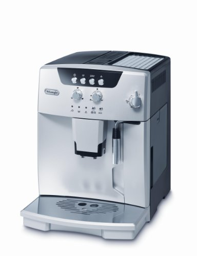 De'Longhi Magnifica ESAM 04.110.S Kaffeevollautomat (Direktwahltasten und Drehregler, Milchaufschäumdüse, Kegelmahlwerk 13 Stufen, Herausnehmbare Brühgruppe, 2-Tassen-Funktion) silber