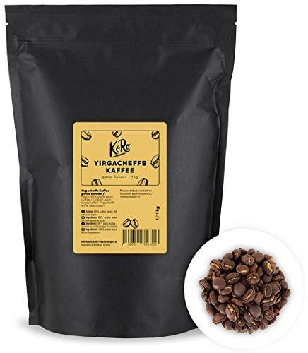 KoRo - Yirgacheffe Kaffee 1 kg - Hochwertiger Spezialitätenkaffee in der Vorteilspackung aus 100 % ganzen Arabica Bohnen